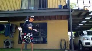 shooting my new bear montana longbow instinctively