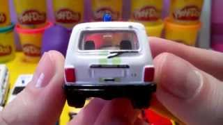 Play doh - small cars. Сars for kids (Power Wheels Race)