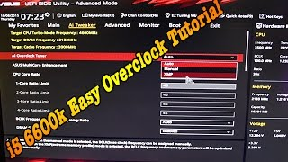 getlinkyoutube.com-i5 6600K 4.6Ghz Easy OverClock Tutorial MoBo Asus Z170 ProGaming Corsair H100i