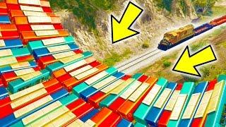 getlinkyoutube.com-CAN 100+ BUSES STOP THE TRAIN IN GTA 5?