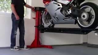 getlinkyoutube.com-Moto Lift 400 LD Motorrad Hebebühne für die Garage www.moto-lift.de