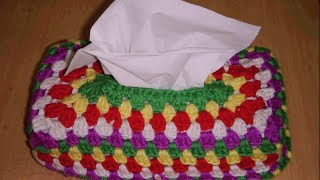 getlinkyoutube.com-Crochet Tissue Cover Part-2