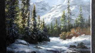 getlinkyoutube.com-Paint with Kevin Hill - Snowy Mountain Forest