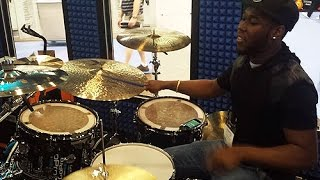 getlinkyoutube.com-NAMM 2015 - Shariq Tucker Drum Solo - GoPro Booth