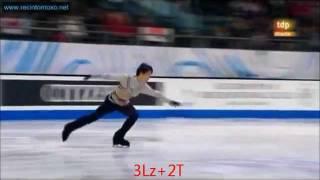 getlinkyoutube.com-【羽生選手】3Lz と 3F の跳び分け