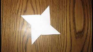 getlinkyoutube.com-How To Make A Paper Ninja Star EASY!