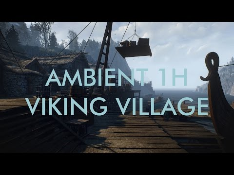 Ambient 1h Viking Harbour Fjord - Relaxing Ambient Work or meditation