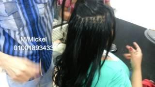getlinkyoutube.com-فيديو علاج الشعر القصير اطالة الشعر بكل طرق التركيب والنتيجة قبل وبعد مسيو مايكل 01001893433
