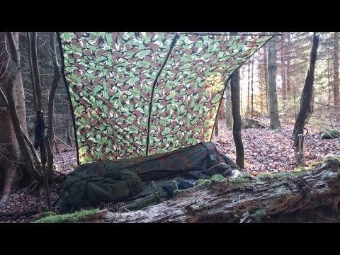 Winter Camping Ausrüstung & Infos zum Aufbau eines Wald-Biwak