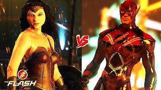 getlinkyoutube.com-CAN WONDER WOMAN DEFEAT FLASH ! Wonder Woman VS. Movie Flash ! (Justice League Fight)