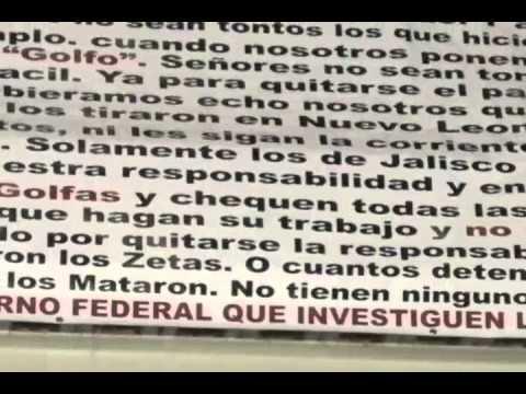 Aparecen 'narcomensajes' en municipios del sur zacatecano