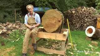 getlinkyoutube.com-The making of a log hive - Treatment Free Tree Beekeeping in  Great Britain