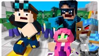 getlinkyoutube.com-Minecraft Diamond Minecart Pranked! EVIL Teen Titans GO PRANK DanTDM! (Superheroes Roleplay))