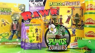getlinkyoutube.com-Plants Vs Zombies Super Unboxing Wild West Playset Surprise Packs Play Doh By Disney Cars Toy Club