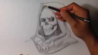 getlinkyoutube.com-How to Draw Skeletor from He-Man - Skull Drawings