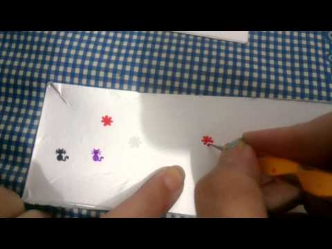 Como usar pincéis boleadores para fazer adesivos artesanais para unhas.