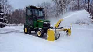 getlinkyoutube.com-John Deere X748 - 54 Inch Snow Blower Quick Cleanup