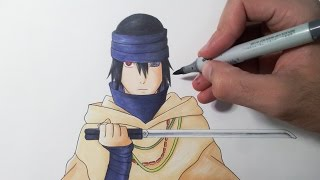 getlinkyoutube.com-Drawing Sasuke - The Last: Naruto the Movie