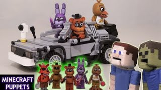 getlinkyoutube.com-Five Nights at Freddy's fnaf Lego Figures McFarlane toys from show stage, office, pirates cove