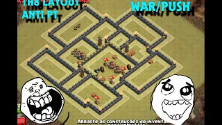 getlinkyoutube.com-Clash of Clans - TH8/CV8 LAYOUT WAR/PUSH ANTI PT