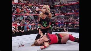 getlinkyoutube.com-Trish Stratus & Mickie James vs. Victoria & Candice Michelle: RAW, Nov. 07, 2005 (HD)