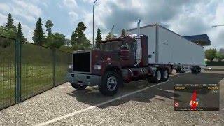 getlinkyoutube.com-Euro Truck Simulator 2: Superliner V8 with American trailer