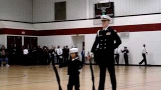 getlinkyoutube.com-7-yr-old Cadet Niki Batac - NJROTC Armed Drill