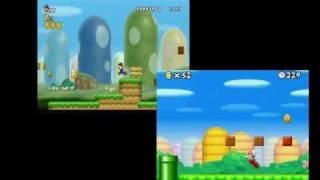 getlinkyoutube.com-Wii vs. DS New Super Mario Bros. 1-1