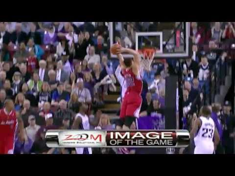 Blake Griffin head height with rim Dunk vs. Kings
