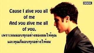 getlinkyoutube.com-All Of Me - John Legend [By Glee] [Sub Thai] [lyrics Eng ] [ซับไทย]