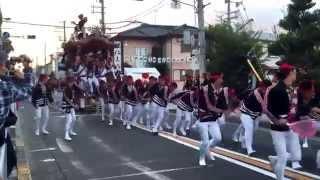 getlinkyoutube.com-2015 八田荘だんじり祭 曳出 西4町