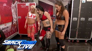 Ruby Riot, Liv Morgan & Sarah Logan emerge with a surprise attack: SmackDown LIVE, Nov. 21, 2017