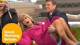 getlinkyoutube.com-Ben Shephard Tries To Dunk Kate Garraway In Icy Water! | Good Morning Britain