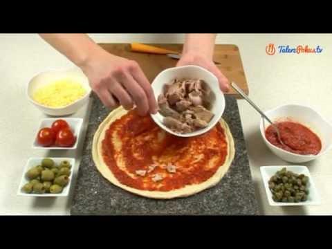 Pizza z tuńczykiem i kaparami
