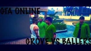 getlinkyoutube.com-GTA 5 ONLINE- Grove Vs Ballers - EP#1