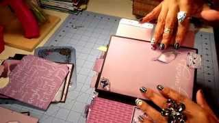 getlinkyoutube.com-Kathy Orta Inspired Build-a-Page Mini Album