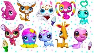 getlinkyoutube.com-Littlest Pet Shop Sundae Sparkle Ice Cream Sprinkle Glitter Pets Toy Review Opening