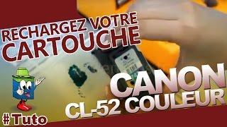 getlinkyoutube.com-Cartouche Canon CL-52 Couleur : Comment Recharger La Cartouche