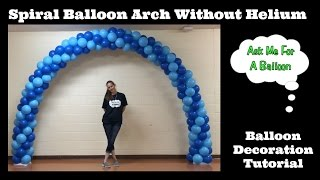 getlinkyoutube.com-Spiral Balloon Arch Tutorial Without Helium