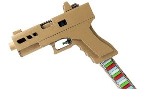 How To Make Glock 19 Full Auto   Cardboard