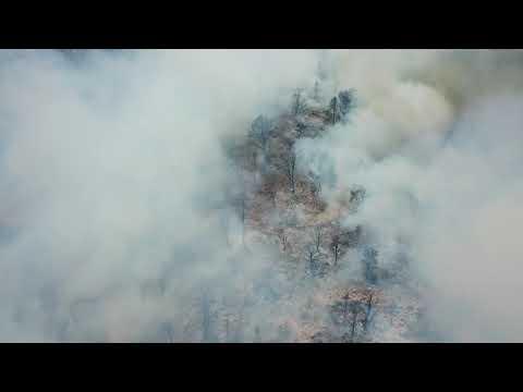 UAS View of Fire and smoke