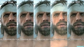 getlinkyoutube.com-Metal Gear Solid 5 The Phantom Pain Pc Vs PS4 Vs Xbox One Vs PS3 Vs Xbox 360 Graphics Comparison