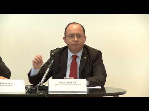 """Participarea ministrului afacerilor externe Bogdan Aurescu la dezbaterea """"Germania și România – parteneri pentru politici de securitate în cadrul NATO"""""""