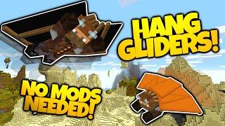 getlinkyoutube.com-Minecraft | HANG GLIDERS! | NO MODS | Soar Through The Sky! | Different Colors! (Minecraft Redstone)