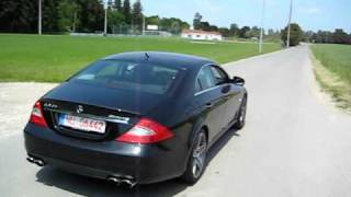 getlinkyoutube.com-Mercedes Benz CLS 63 AMG Soundcheck + Kickdown_Part 2