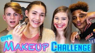 getlinkyoutube.com-GUYS Makeup Challenge! MattyBRaps vs Justin ft Gracie & CeCe