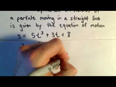 Position, Velocity, Acceleration using Derivatives