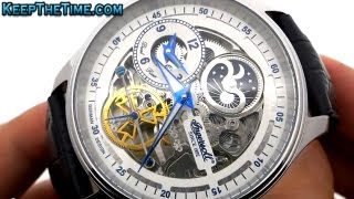 getlinkyoutube.com-Ingersoll Boonville Skeleton Dial Watch IN2705WH (Hands-On HD Video Review)