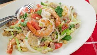 getlinkyoutube.com-Yum Woon Sen Recipe (glass noodle salad 2.0) ยำวุ้นเส้น - Hot Thai Kitchen!