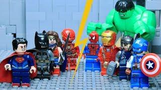 LEGO Justice League VS Avengers Part 1: Hulk VS Superman